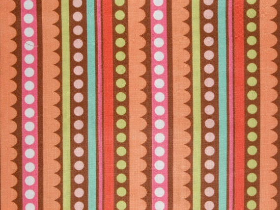 Custom Listing for K8andLeigh - Deal of the Week SALE - Sweet Nothings Brown Stripes - Riley Blake - Zoe Pearn - 7 yards