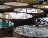 Whisky and Water 8x8 signed photograph scotland barrels reflections distill spirits breath of life outlander bar decor