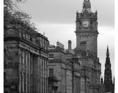 Princes Street Edinburgh 8x12 signed photo 11x14 mat Scotland city urban victorian gritty industrial moody shopping travel history