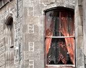 Gypsy Window 8x10 photo 11x14 Mat BoHo style in urban landscape Independent decorator spirit shines in stone walls