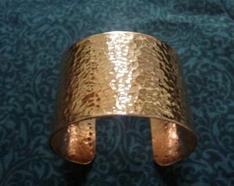 Brass or Copper Cuff - Custom Wide Metal Cuff