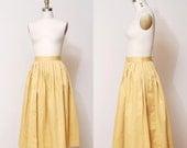 1950s Full Skirt - Saffron Yellow Full Swing Skirt