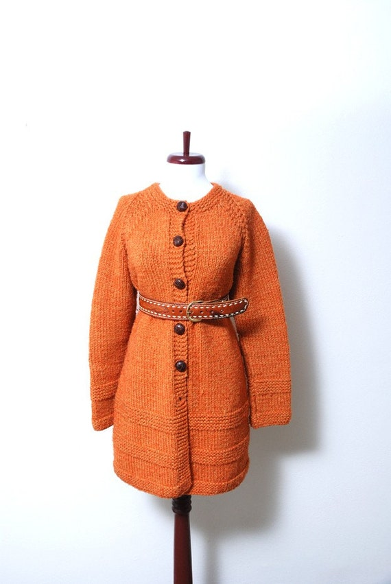Pumpkin Chunky Knit Sweater Tunic