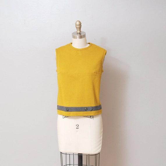 1950s Blouse - Mustard Yellow Shell Tank