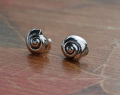 Silver Nautilus Studs