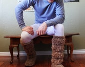 RESERVED FOR ts1200ext- Original cozy slipper boots- Men's 13- grey and khaki