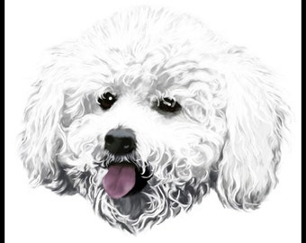 Bichon Frise  - 10x10in portrait