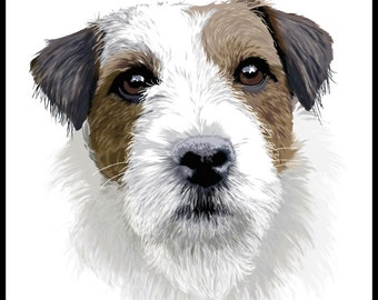 Jack Russell Terrier - 10x10in portrait