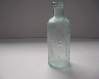 Halls Catarrh Cure FM Cheney of Toledo Ohio Antique Bottle