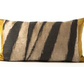 Zebra Print with Solid Silk Pillow