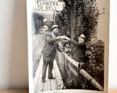 "1 Vintage 1930s Photograph ""Flowers to Sell"""
