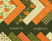 Pumpkin Pie digital scrapbooking paper pack  DP011 instant download 12x12 and 8.5x11 in size