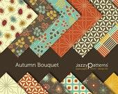 Autumn Bouquet digital scrapbooking paper  pack  DP009