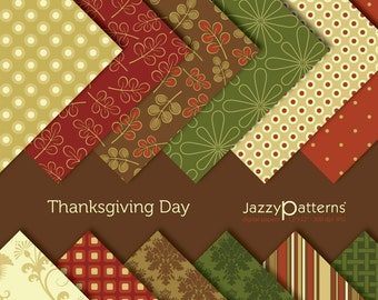 Digital paper pack  Thanksgiving Day DP032 instant download