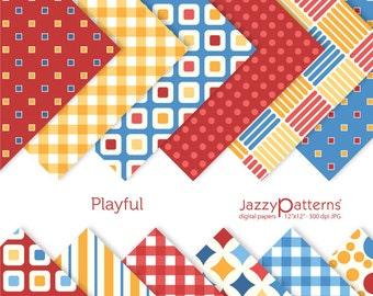 Playful digital scrapbooking paper pack DP073 instant download
