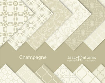 Champagne digital  paper pack DP059 instant download