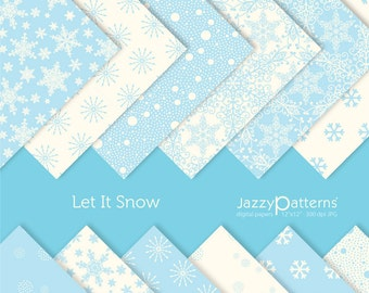 Let it Snow digital paper pack for scrapbooking DP005 instant download