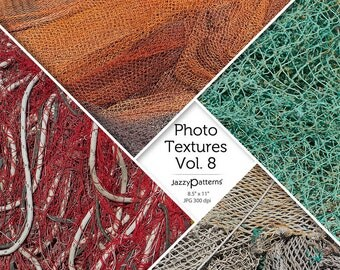 Fishing Net Photo Textures Vol.8, printable photography backdrop,  digital paper background, texture overlay