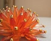 RESERVED for labellafia1--Vintage Flower Burst Brooch