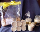 Candle Gift Set/Bag 100% Soy Candles,Tealights, Votives, Container-Triple Scented,FREE SHIPPING-Vanilla Scented