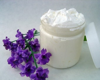 Whipped  Body  Butter - Coconut - 4 ounce - Vegan friendly.Body butter with coconut oil, cocoa butter and shea butter