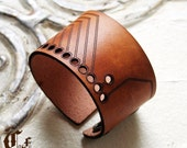 substrate...laser cut leather cuff bracelet