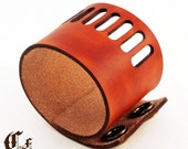 slotted...laser cut leather cuff bracelet
