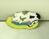 Tim Curtis Enamel Cow Pin