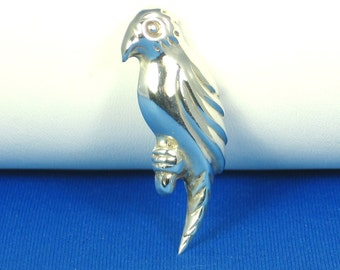 925 Sterling Parrot Pin and Pendant