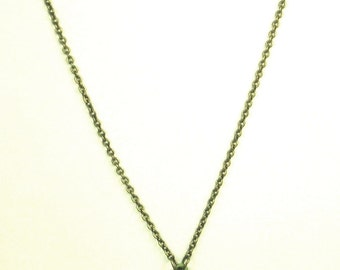 Michal Negrin Green Enamel Pendant and Glass Bead Necklace