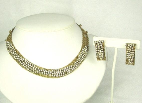 Vintage Hattie Carnegie Choker Necklace and Earrings