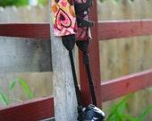 Camera Strap Slip Cover with POCKET SLR DSLR - Pink Hearts