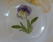Pansy Magic - Pressed Floral and Blown Glass Ornament
