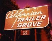 Californian Trailer Grove - 5x5 Fine Art Photography Print