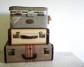 Vintage Tweed Skyway Train Case - Unused with Original Tags