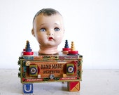 Found Objects Art Assemblage - Recycled Vintage Parts
