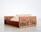 Upcycled Desktop Business Card Holder - Vintage Parts