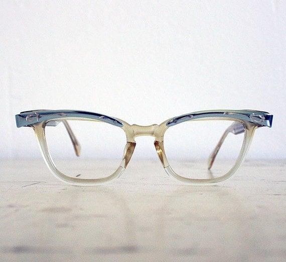 Vintage Blue Cat Eye Eyeglass Frames