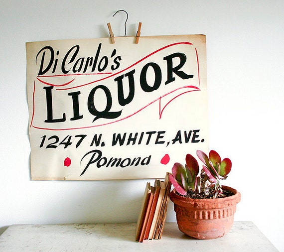 Vintage Advertising Poster - DiCarlo's Liquor Store