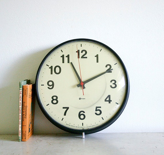 Vintage School or Office Wall Clock