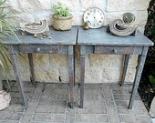 Upcycled Matching Set - Rustic Patina - Nightstands - End Tables - Drawers