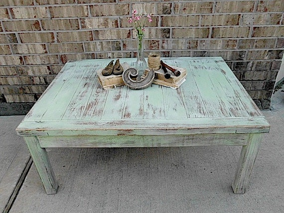 Upcycled - Vintage - Prairie Pistachio - Wooden Coffee Table