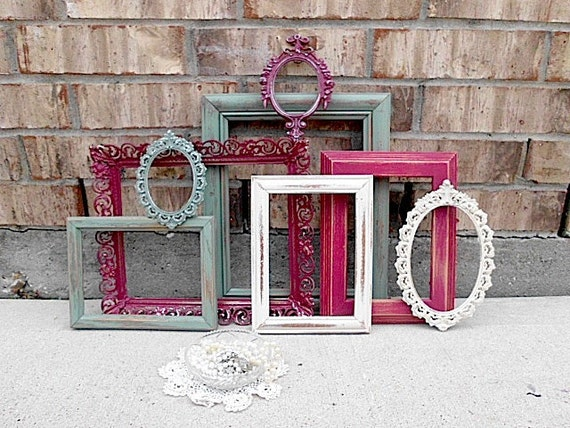 Upcycled - Louis XV French Elegance Inspired - Vintage Picture Frame Collection - Hollywood GLAM