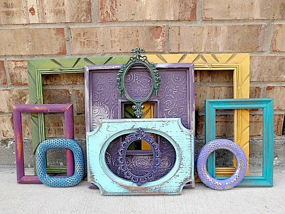 SeXy SaMba - Upcycled Vintage Picture Frame Collection - Bohemian CHIC -