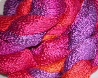 Rayon Spiral, Hand dyed yarn - Sunset