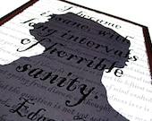 8x10 Edgar Allan Poe Art - Horrible Sanity Original Digital Art Print