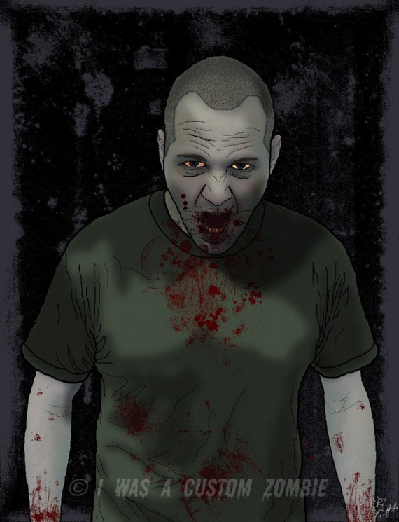 Custom Zombie Portrait 8x10 Zombie Picture