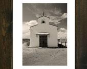 la calera church exterior framed