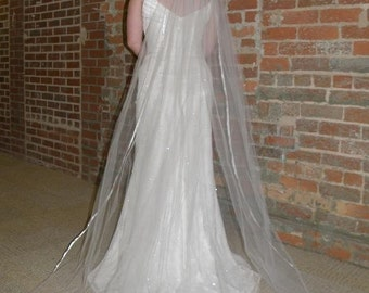 Wedding veil - 90 inch Chapel Length veil with satin ribbon edge
