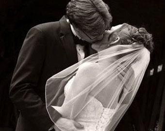 Wedding veil -  elbow length bridal veil with a pencil edge